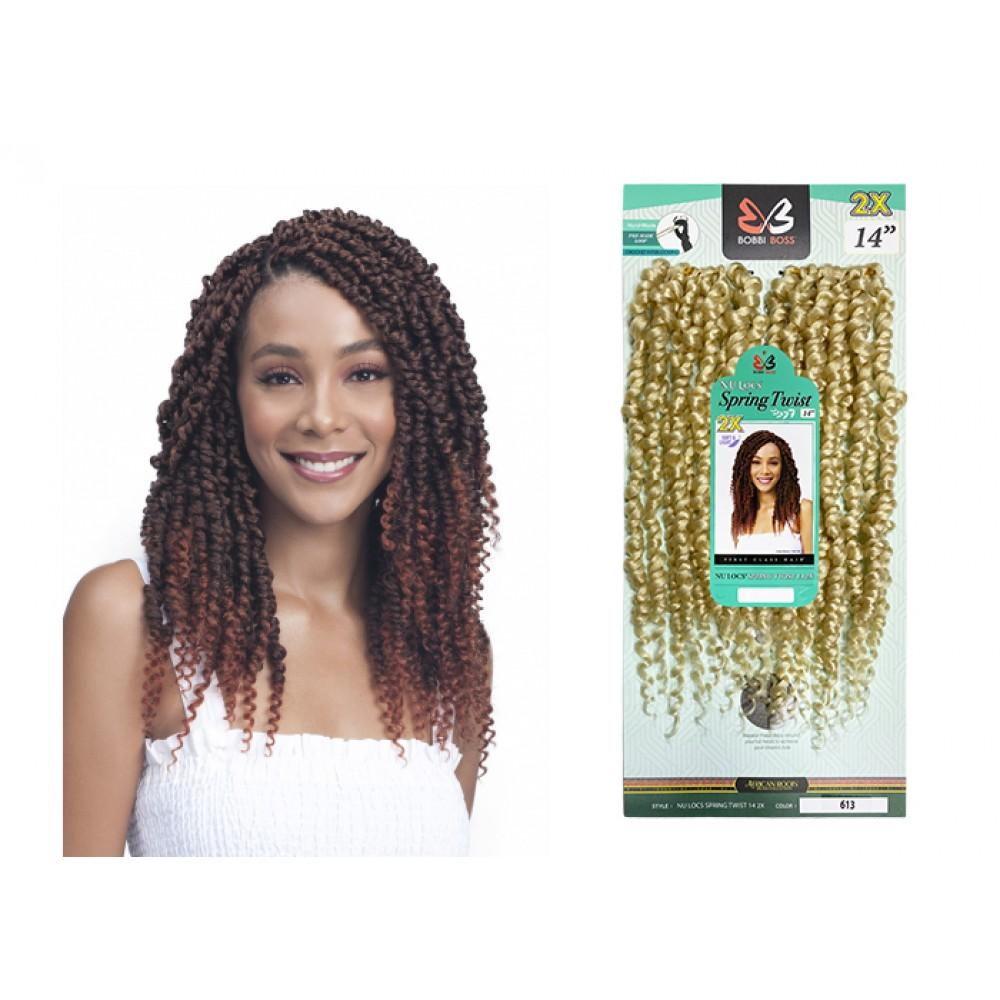"Free Shipping Bobbi Boss Nu Locs Synthetic Hair Crochet Braid Loop 2x Spring Twist 14"""