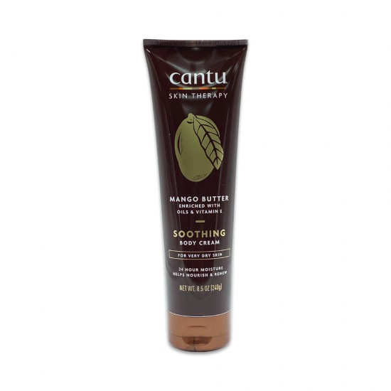 Cantu Skin Therapy Mango Butter Enriched With Oils And Vitamin E Soothing Body Cream For Very Dry Skin 8.5 Oz