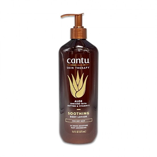 Cantu Skin Therapy Aloe Enriched With Butters And Vitamin E Soothing Body Lotion For Dry Skin 16 Oz