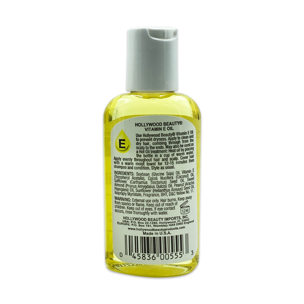 Hollywood Beauty Vitamin E Oil Prevents Dryness Hair And Skin Oil Hair Oil 2 Fl Oz