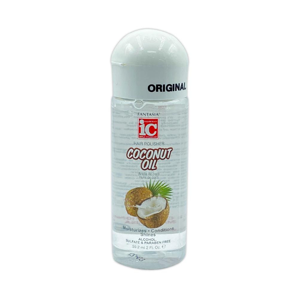 Fantasia Ic Hair Polisher Coconut Oil Serum Moisturizes Conditions Shines 2 Oz