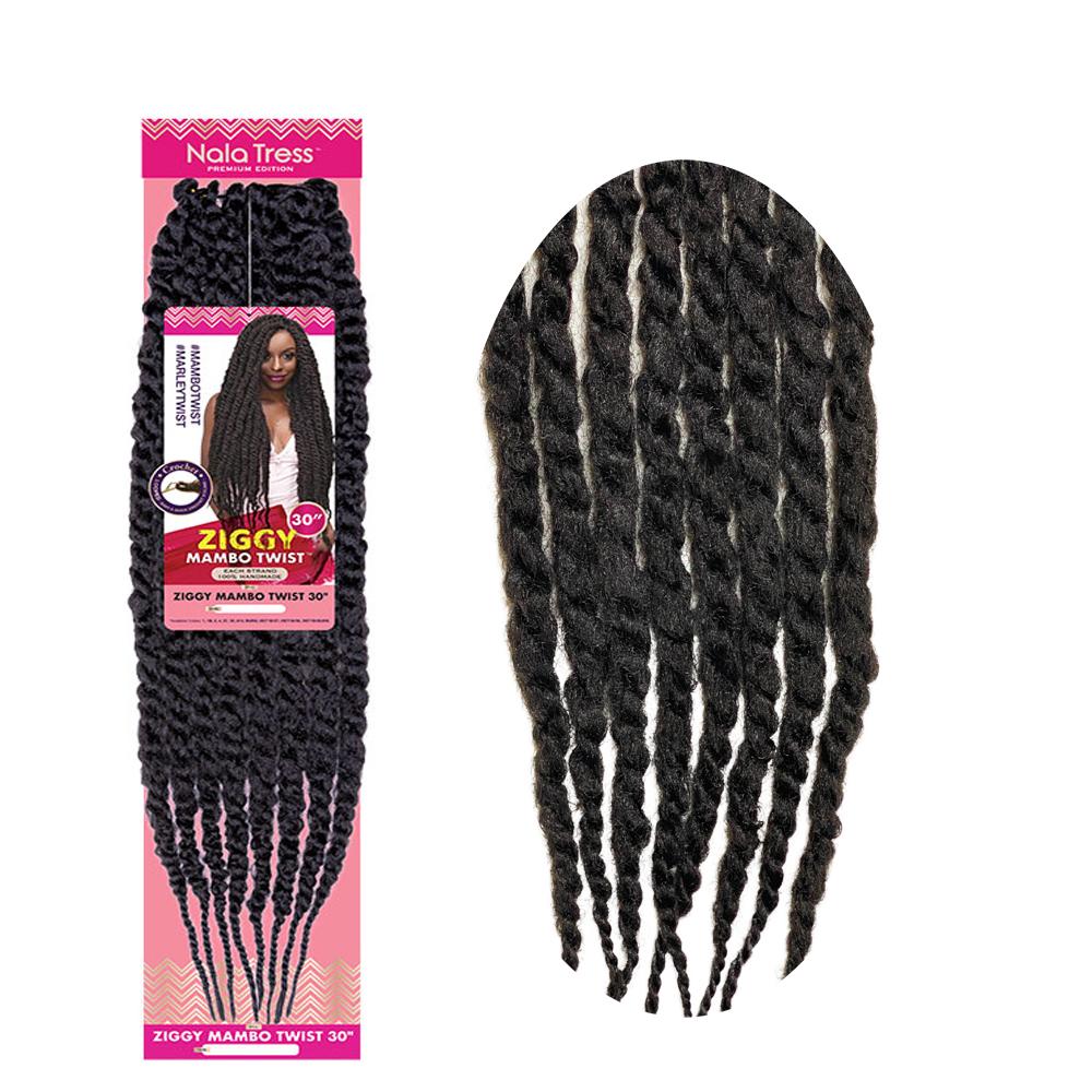 "Janet Collection Nala Tress Synthetic Hair Crochet Braid Loop Ziggy Mambo Twist 30"""