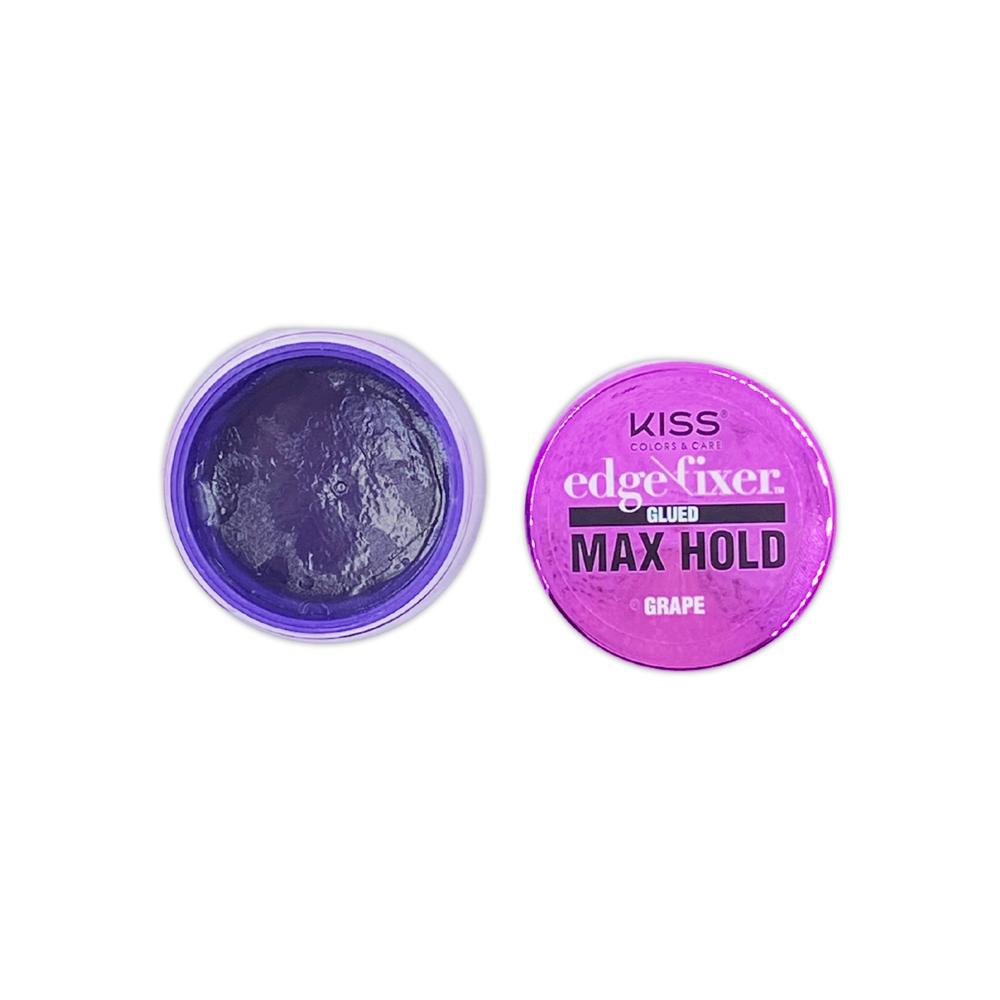 Kiss Color And Care Edge Control Fixer Glued Max Hold Grape 1 OZ