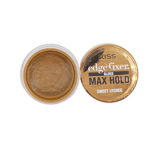 Kiss Color And Care Edge Control Fixer Glued Max Hold Sweet Lychee 1 OZ