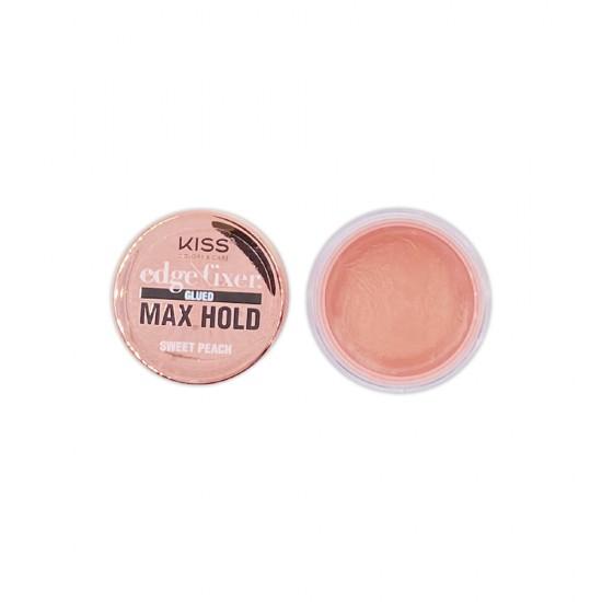 Kiss Color And Care Edge Control Fixer Glued Max Hold Sweet Peach 1 OZ