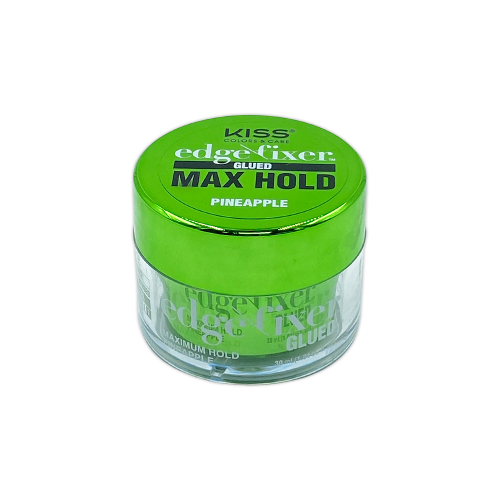 Kiss Color And Care Edge Control Fixer Glued Max Hold Pineapple 1 OZ