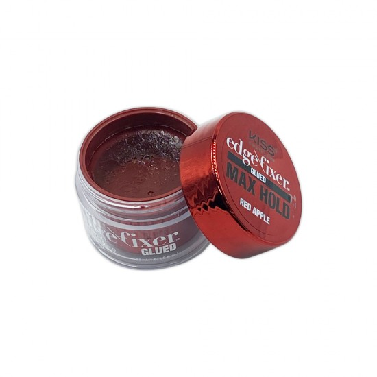 Kiss Color And Care Edge Control Fixer Glued Max Hold Red Apple 1 OZ