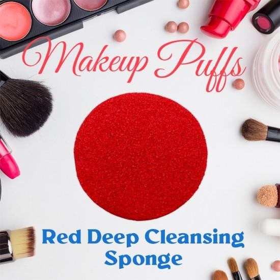 Ebo Cosmetic Makeup Sponge Red Cosmetic Sponge 2 Pcs
