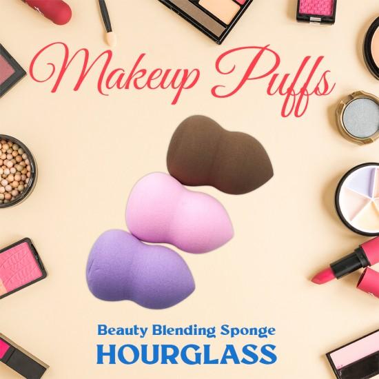 Ebo Cosmetic Makeup Hourglass Sponge Powder Puff Foundation Sponge Blender Makeup Puff Hourglass Sponge Assorted color