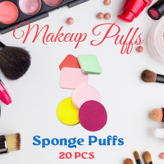 Ebo Cosmetic Makeup Sponge Powder Puff Foundation Sponge Blender Makeup Puff Assorted Sponge 20 Pcs