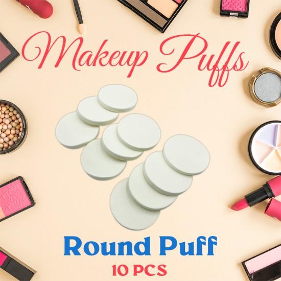 Ebo Cosmetic Makeup Sponge Powder Puff Foundation Sponge Blender Round Makeup Puff 10 Pcs