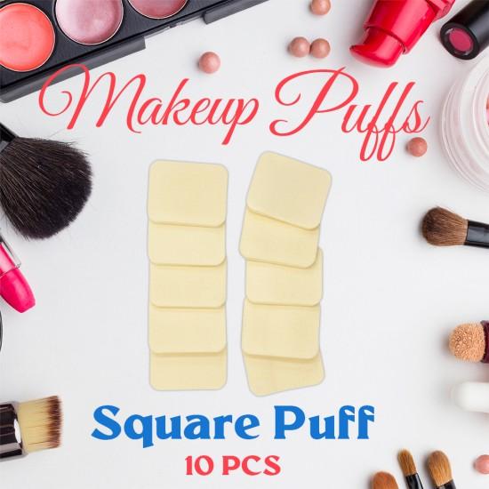 Ebo Cosmetic Makeup Sponge Powder Puff Foundation Sponge Blender Square Makeup Puff 10 Pcs