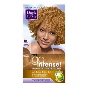 dark and lovely go intense hair color #10 - golden blonde