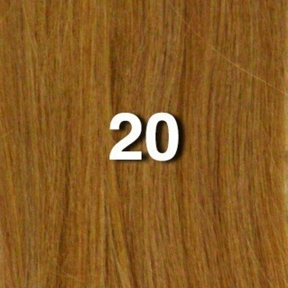 18 fusion-u tip -100pcs 100% human hair extension  - 20 - straight