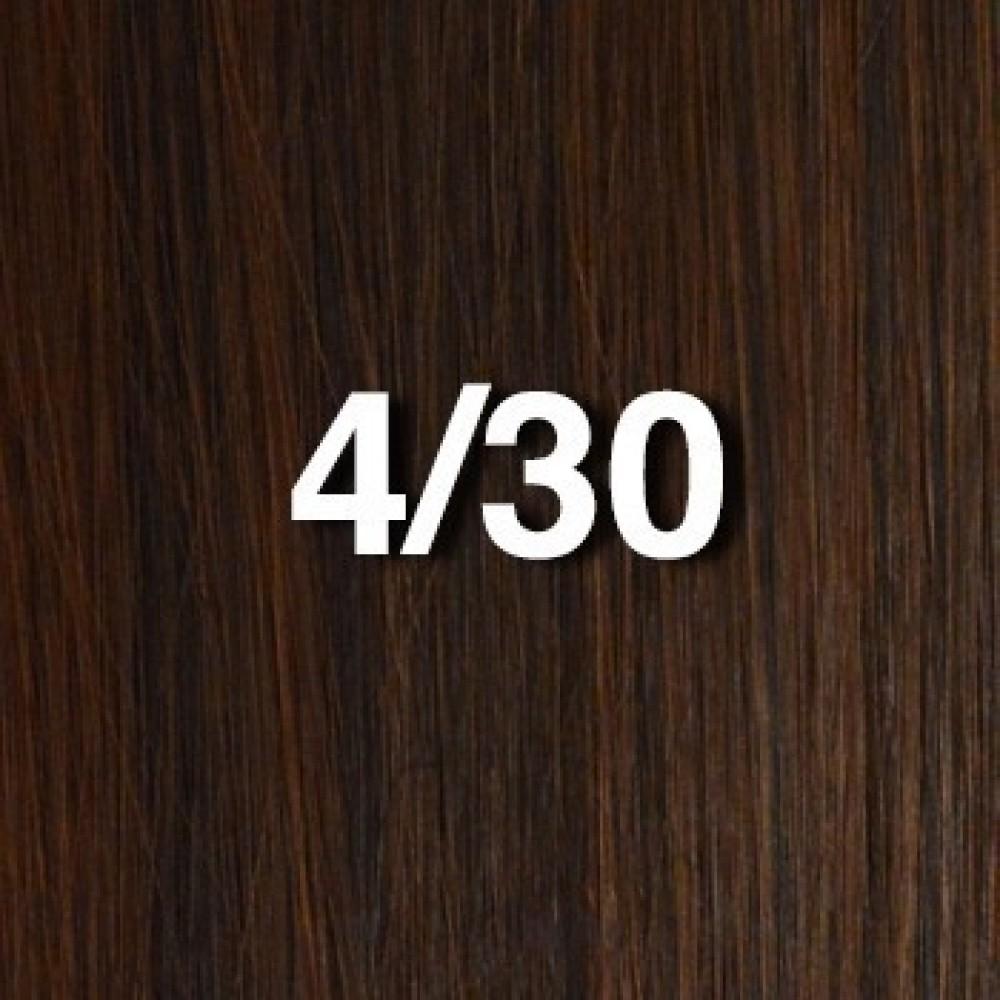 14 clip in - 10pcs 100%  human hair extensions -straight- medium brown/ auburn (4/30)