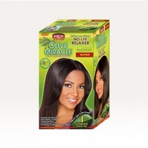 African Pride Olive Miracle No Lye Conditioning Creme Relaxer Kit Super 1 Touch Up