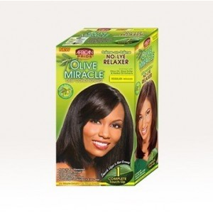 African Pride Olive Miracle No Lye Conditioning Creme Relaxer Kit Regular 1 Touch Up