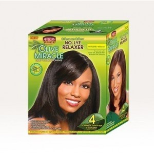 African Pride Olive Miracle No-lye Conditioning Creme Relaxer Kit Regular 4 Touch Up