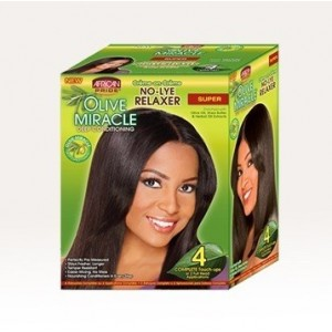 African Pride Olive Miracle No-lye Conditioning Creme Relaxer Kit Super 4 Touch Up