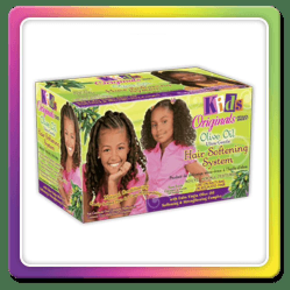 Africas Best Kids Organice Olive Oil Hair Softening Kit