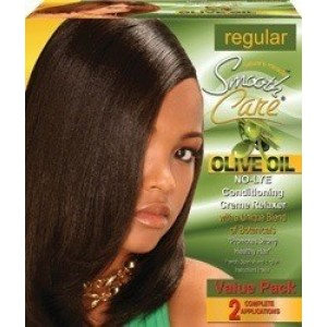 Smooth Care Olive Oil No Lye Conditioning Creme Relaxer Kit 2 Applications Value Pack Regular