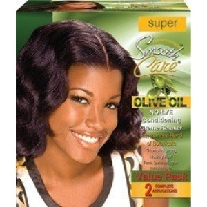 Smooth Care Olive Oil No Lye Conditioning Creme Relaxer Kit 2 Applications Value Pack Super