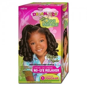African Pride Dream Kids Olive Miracle No Lye Conditioning Creme Relaxer Touch Up Kit Super