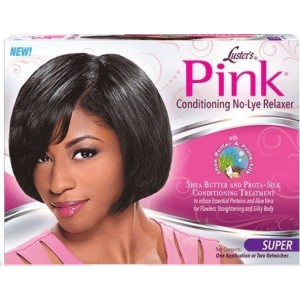 Lusters Pink No Lye Conditioning Creme Relaxer Kit 2 Applications Value Pack Super