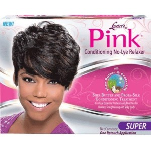Lusters Pink No Lye Conditioning Creme Relaxer Kit Super