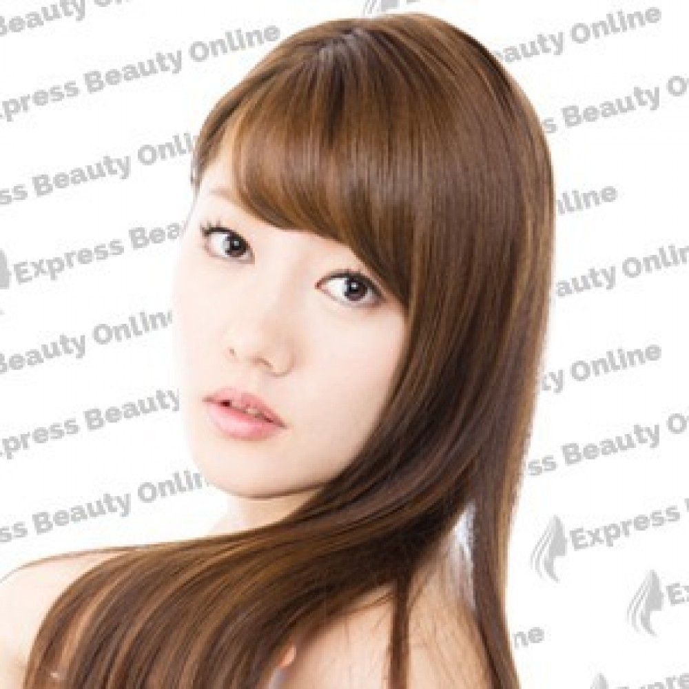 14 clip in - 10pcs 100%  human hair extensions - straight-medium brown/ honey (4/27)