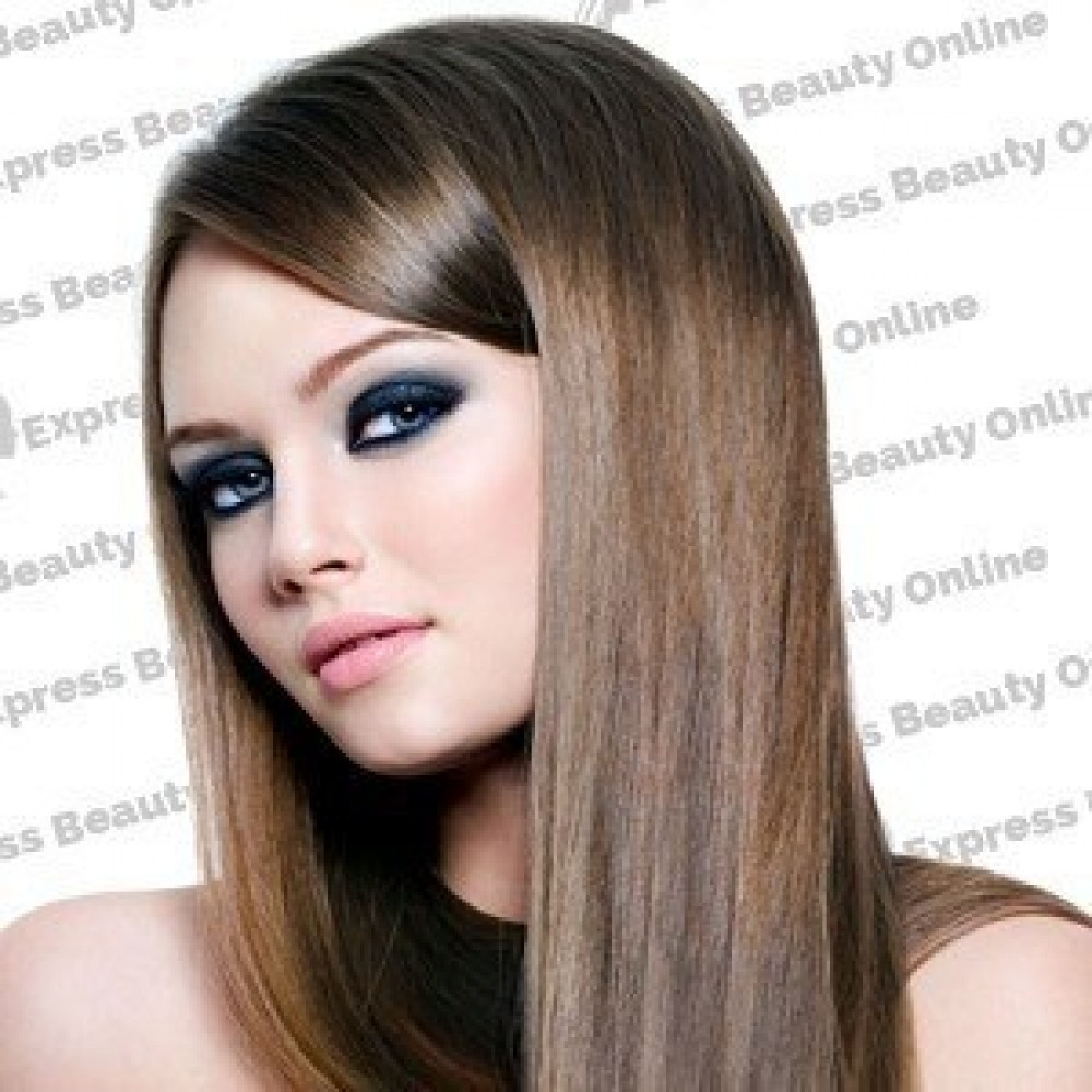 14 clip in - 10pcs 100% human hair extensions - straight-ash brown (8)