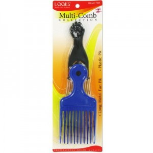 Ebo Long Metal Fan Pik & Plastic Comb Assort