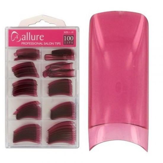 Ebo  Salon Nail Tips Transparent Red 100