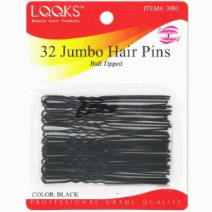 "Ebo  3"" Hair Pin 32ct Black"