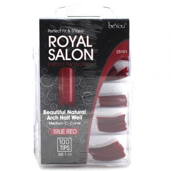 Ebo Be You Salon Color Nail French/royal 100tip/pk True Red
