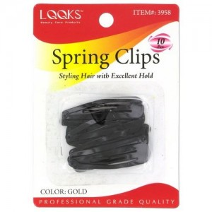 Ebo Spring Clips 10ct Black