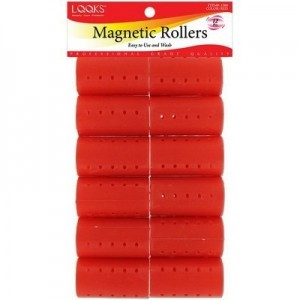 "Magnetic Roller 12ct Red (dia 1 7/16"")"