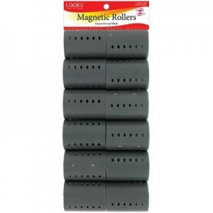 """Magnetic Roller 12ct Gray (dia 2"""")"""
