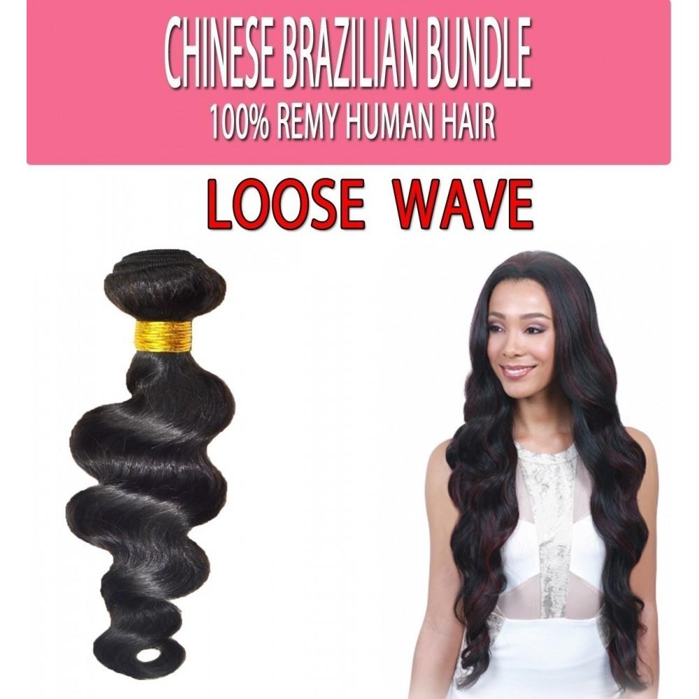 Brazilian Unprocessed 100% Virgin Remy Human Hair Weave Loose Wave