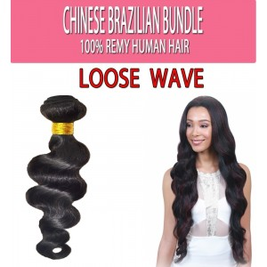 "Brazilian Unprocessed 100% Virgin Remy Human Hair Weave Loose Wave 12"" 12"" 14"""