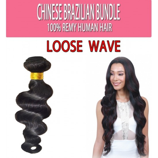 Brazilian Unprocessed 100% Virgin Remy Human Hair Weave Loose Wave