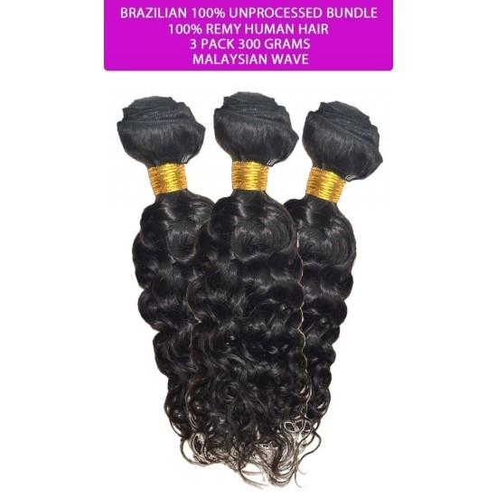 Brazilian Unprocessed 100% Virgin Remy Human Hair Weave Malaysian Wave Combo
