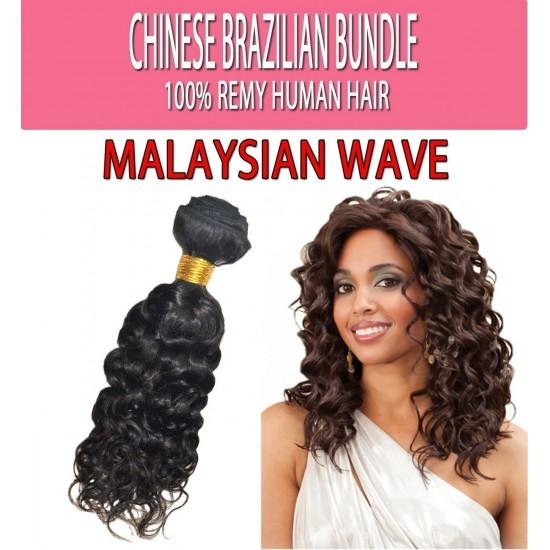 Brazilian Unprocessed 100% Virgin Remy Human Hair Weave Malaysian Wave 18
