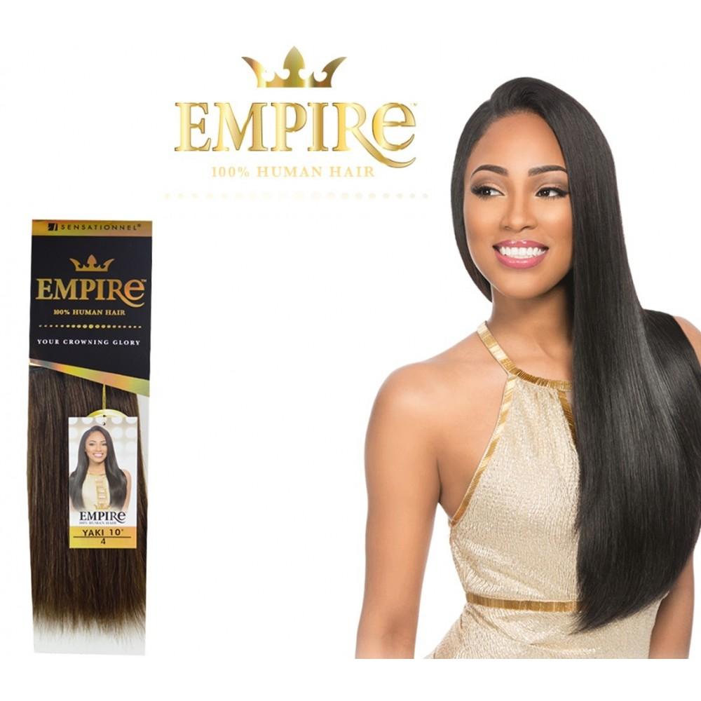 sensationnel empire yaki straight 100%  human hair weave