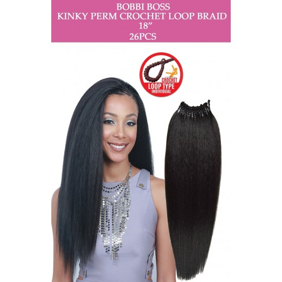 Bobbi Boss Synthetic Hair Crochet Braid Loop Kinky Perm 18