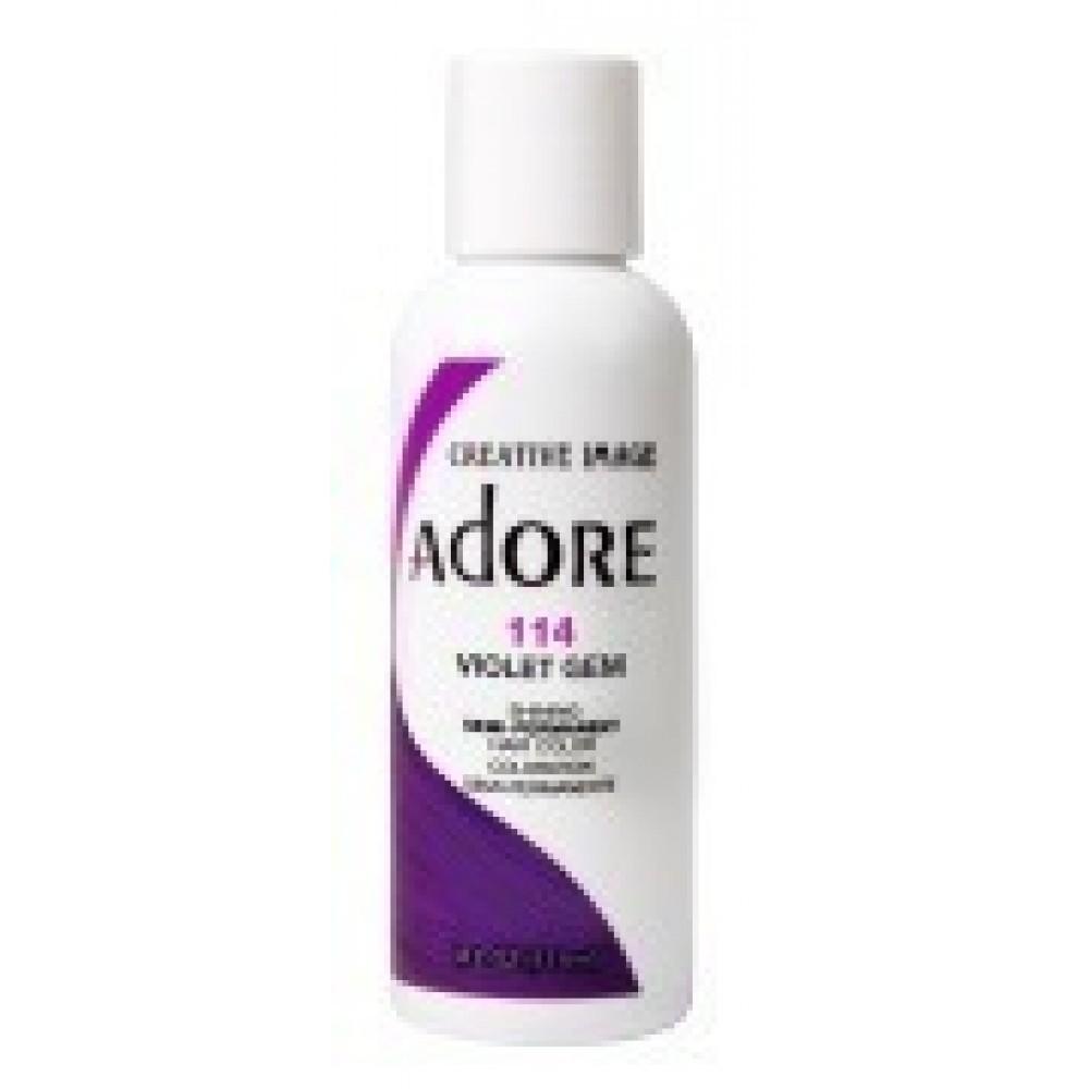 Adore Semi Permanent Hair Color 114 Violet Gem