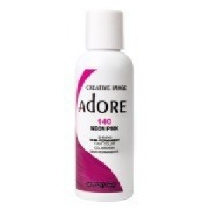 adore semi permanent hair color #140 neon pink
