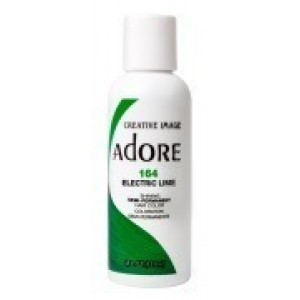 adore semi permanent hair color #164 electric lime