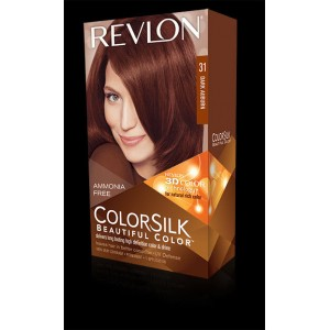revlon colorsilk beautiful color permanent hair #31 dark auburn