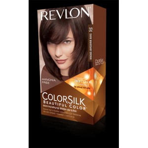 revlon colorsilk beautiful color permanent hair #32 dark mahogany brown